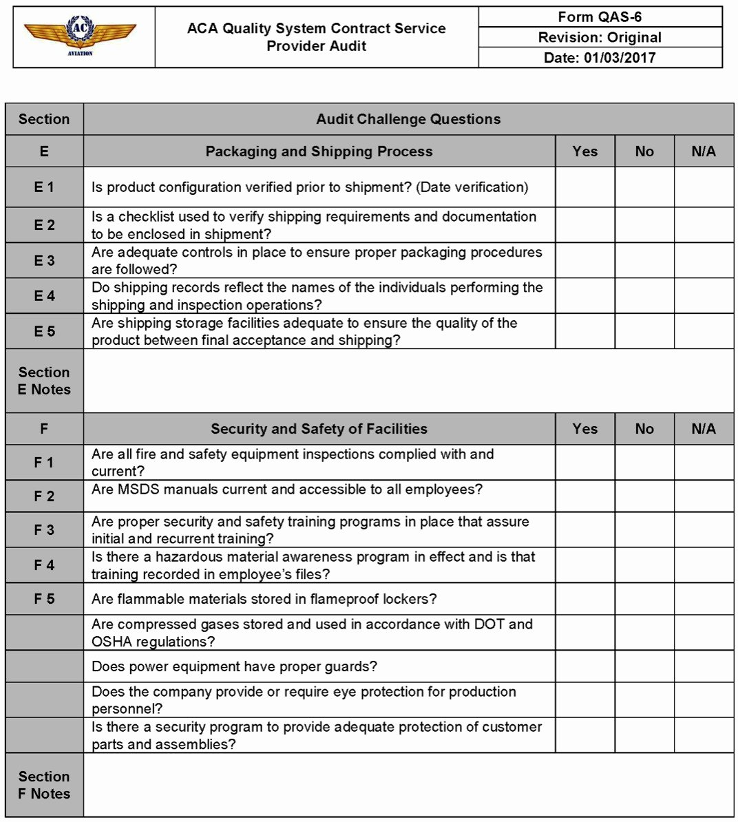 It Audit Checklist Template Inspirational Aviation Security Audit Checklist Template Templates