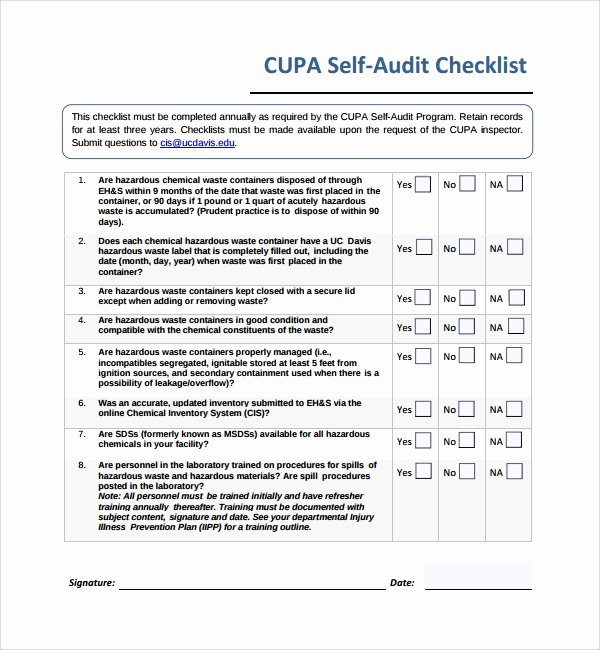It Audit Checklist Template Lovely 13 Audit Checklist Templates – Pdf Word Excel Pages