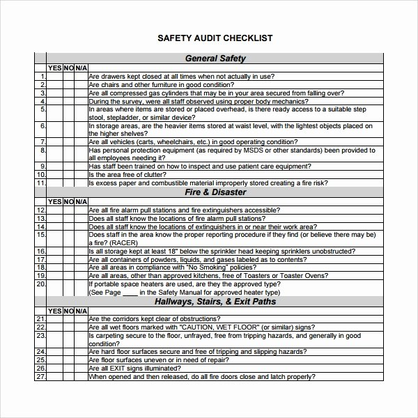 It Audit Checklist Template Luxury 13 Audit Checklist Templates – Pdf Word Excel Pages