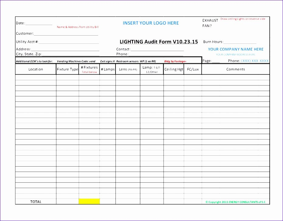 It Audit Checklist Template Luxury Home Energy Audit Excel Spreadsheet Homemade Ftempo