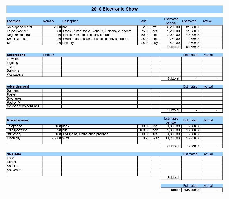 It Budget Template Excel Awesome Bud Template Excel