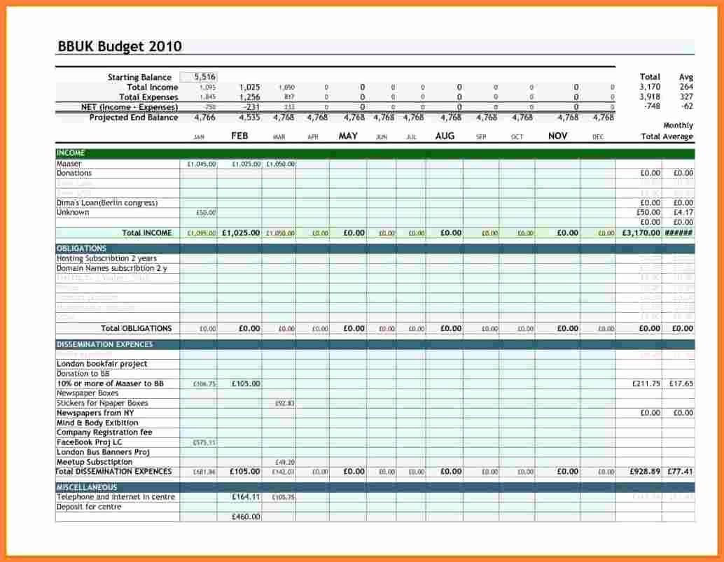 It Budget Template Excel Beautiful 9 Sample Personal Bud Spreadsheet