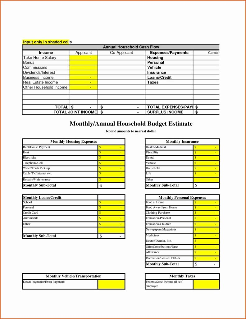 It Budget Template Excel Beautiful Household Spreadsheet Templates Spreadsheet Templates for