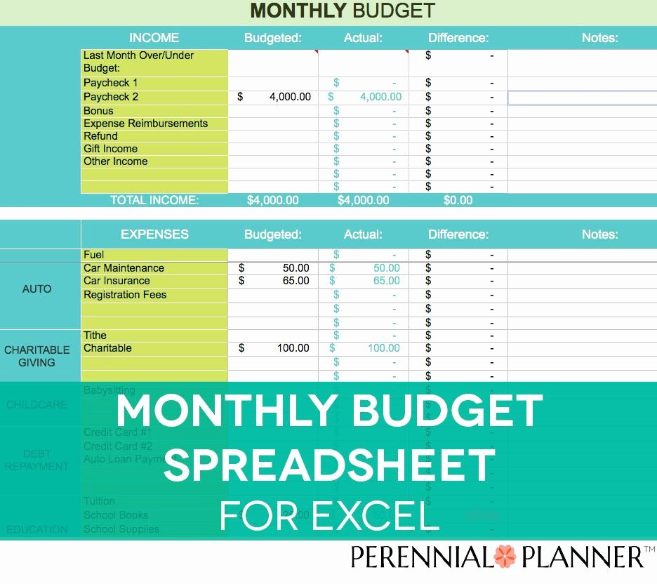 It Budget Template Excel Best Of Monthly Bud Spreadsheet Household Money Tracker