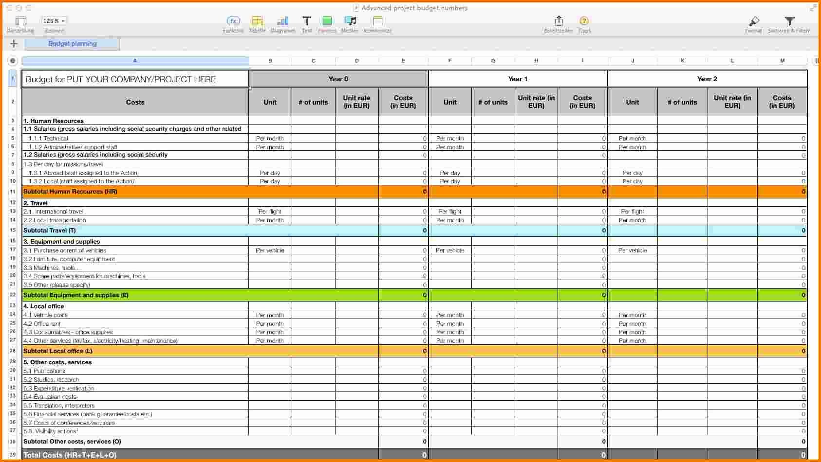 It Budget Template Excel Lovely Personal Bud Template Mac Numbers organized with
