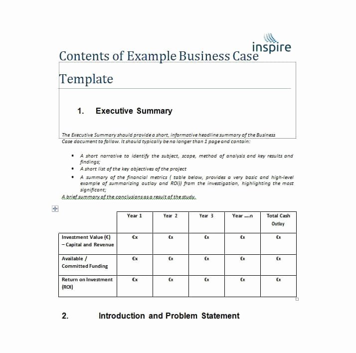 It Business Case Template Best Of 30 Simple Business Case Templates & Examples Template Lab