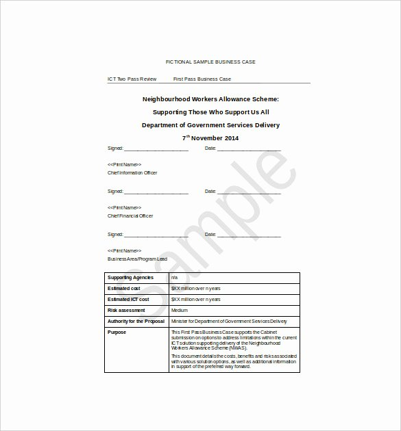 It Business Case Template Elegant 13 Business Case Templates Pdf Doc