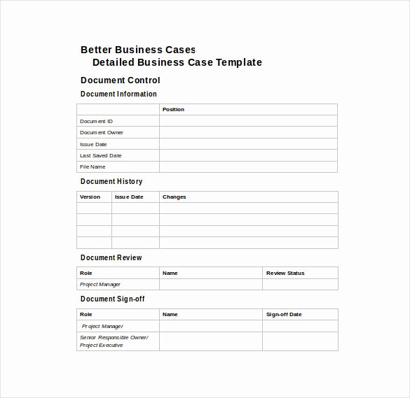 It Business Case Template Fresh 12 Business Case Templates – Free Sample Example format