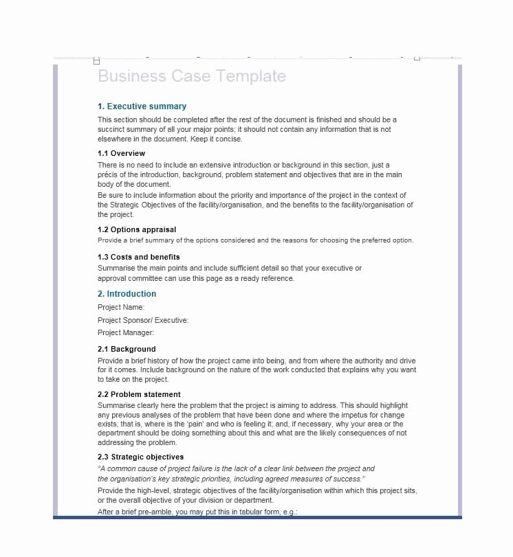 It Business Case Template Fresh 30 Simple Business Case Templates & Examples Template Lab