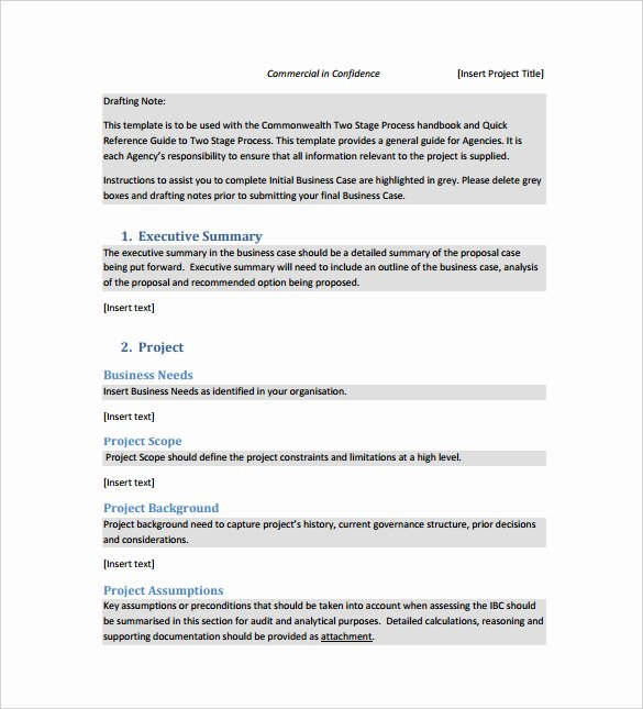 It Business Case Template Luxury 12 Business Case Templates – Free Sample Example format