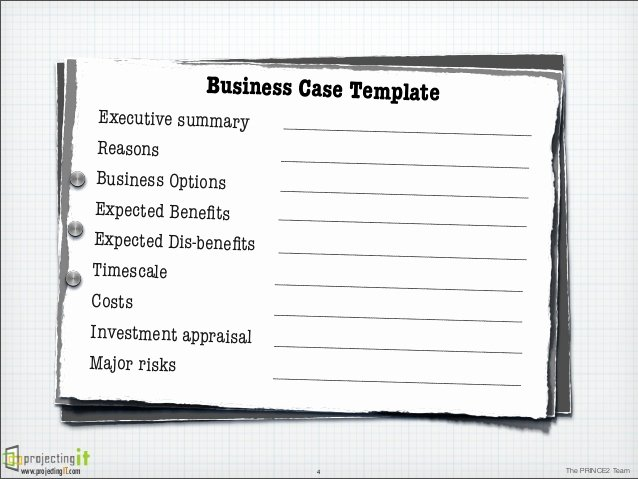 It Business Case Template New the Prince2 Business Case