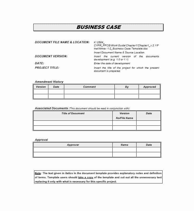 It Business Case Template Unique 30 Simple Business Case Templates & Examples Template Lab