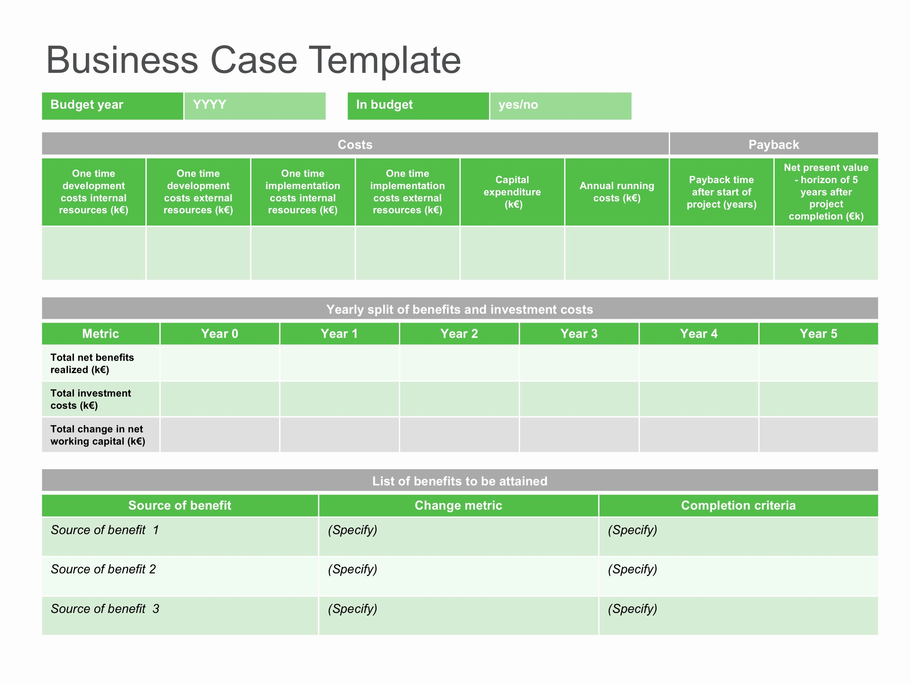 It Business Case Template Unique Sample Business Case Templates – 30 Simple Business Case