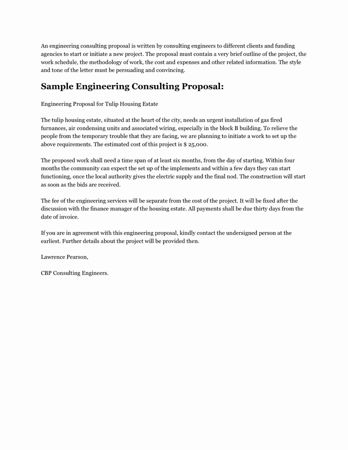 It Consulting Proposal Template Awesome Consulting Proposal Template Free Documents for