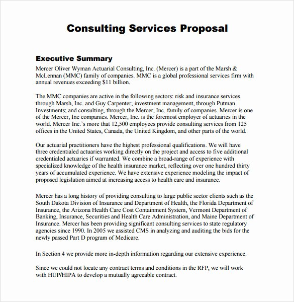 It Consulting Proposal Template Beautiful Consultant Proposal Template 7 Download Documents In Pdf