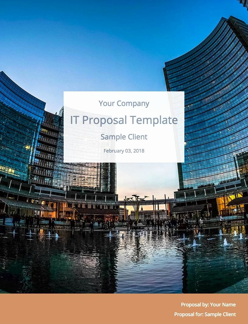 It Consulting Proposal Template Best Of It Consulting Proposal Template Free Download
