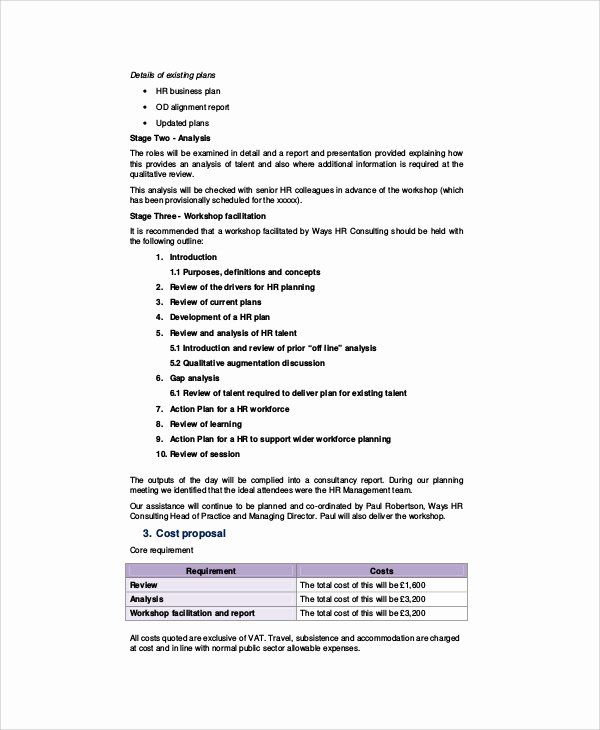 It Consulting Proposal Template Lovely 10 Sample Hr Proposals Word Pdf Pages