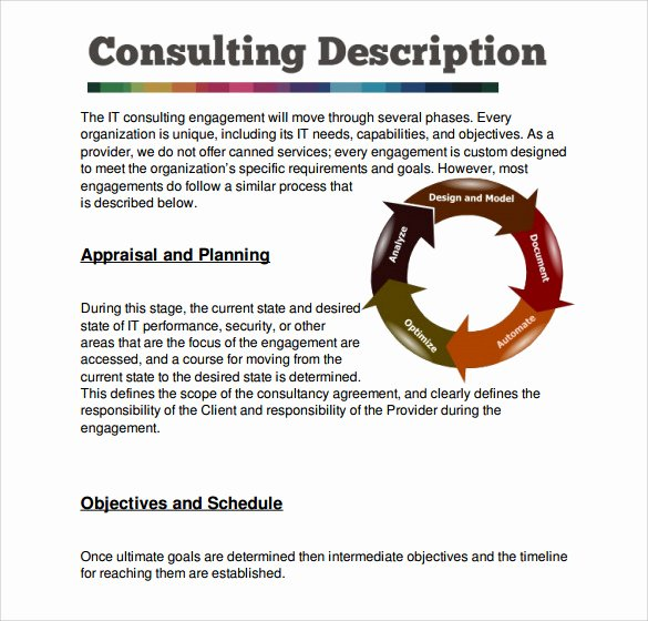 It Consulting Proposal Template New 7 Sample Consultant Proposal Templates