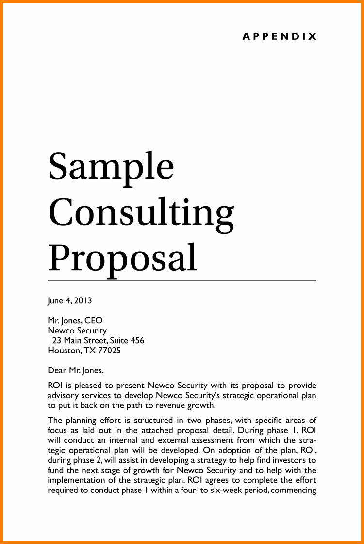 It Consulting Proposal Template New Consulting Proposal Template