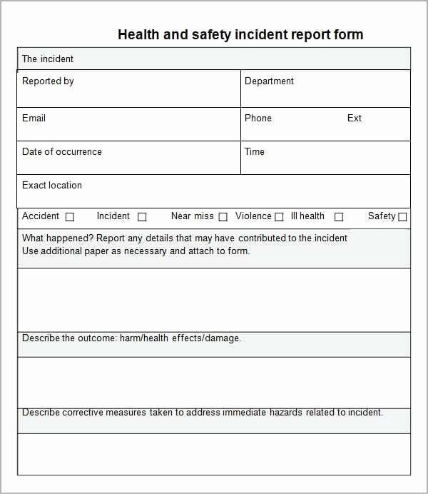 It Incident Report Template Word Awesome 10 Incident Report Templates Word Excel Pdf formats