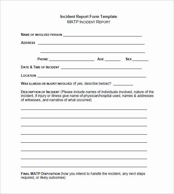 It Incident Report Template Word Elegant 37 Incident Report Templates Pdf Doc Pages