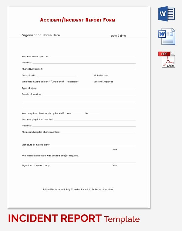 It Incident Report Template Word Fresh Incident Report Template 39 Free Word Pdf format