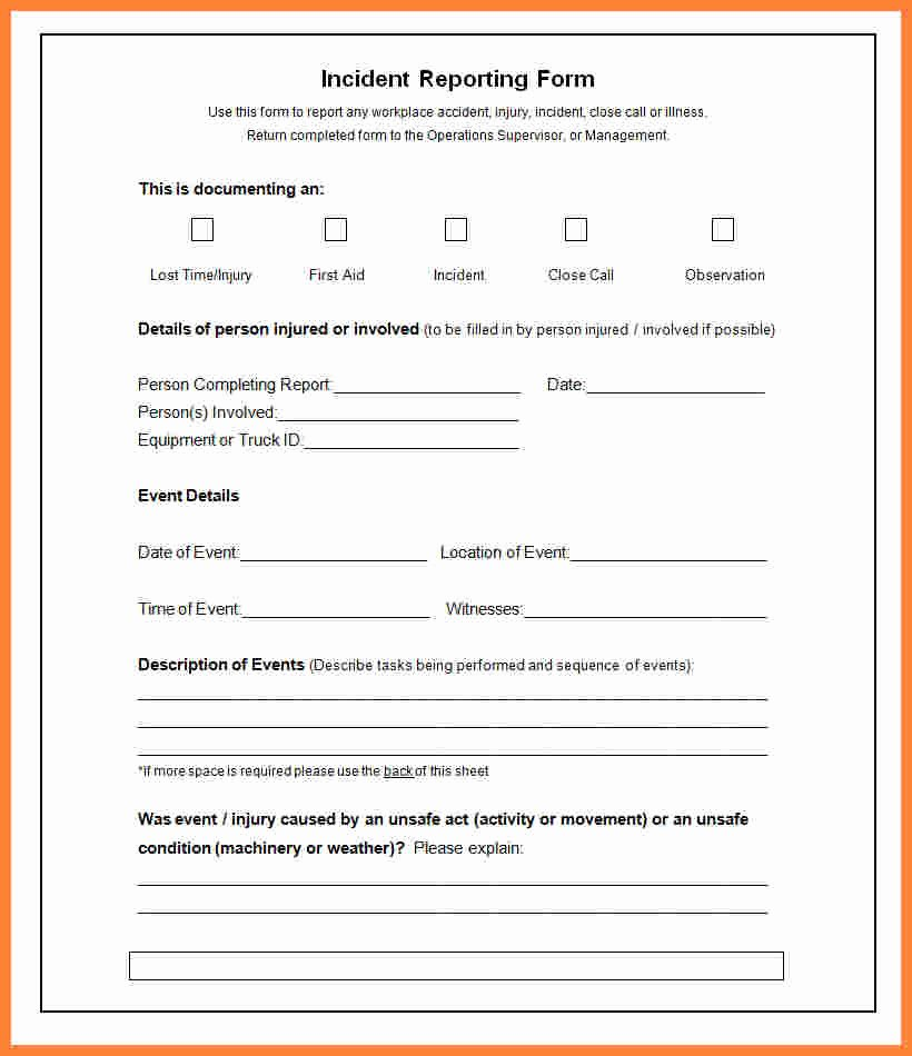 It Incident Report Template Word New 6 Incident Report Template Microsoft Word