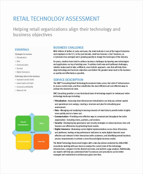 It Infrastructure assessment Template Fresh Technology assessment Templates 7 Free Pdf Documents