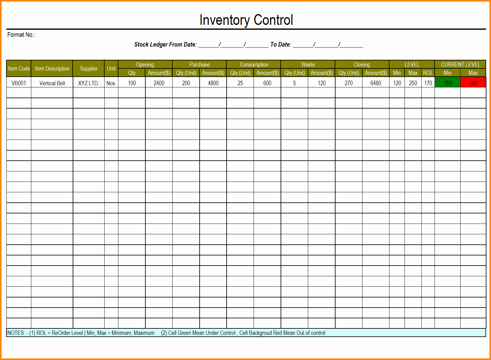 It Inventory Excel Template Lovely Excel Inventory Template with formulas 1 Inventory