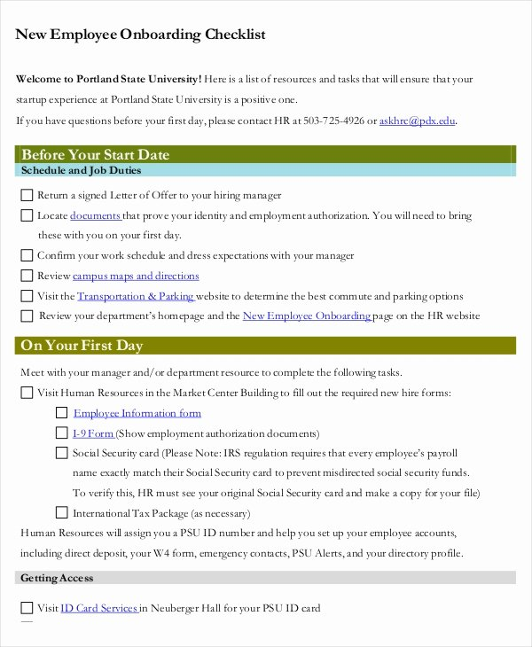 It Onboarding Checklist Template Beautiful 41 Checklist Templates