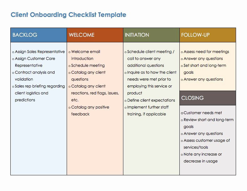 It Onboarding Checklist Template Elegant Free Boarding Checklists and Templates