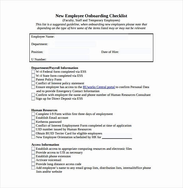It Onboarding Checklist Template Lovely Checklist Template – 38 Free Word Excel Pdf Documents