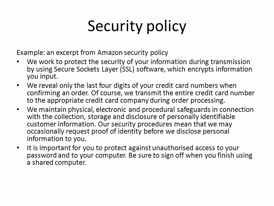 It Security Policy Template Best Of It Security Policy Templates Printable Information