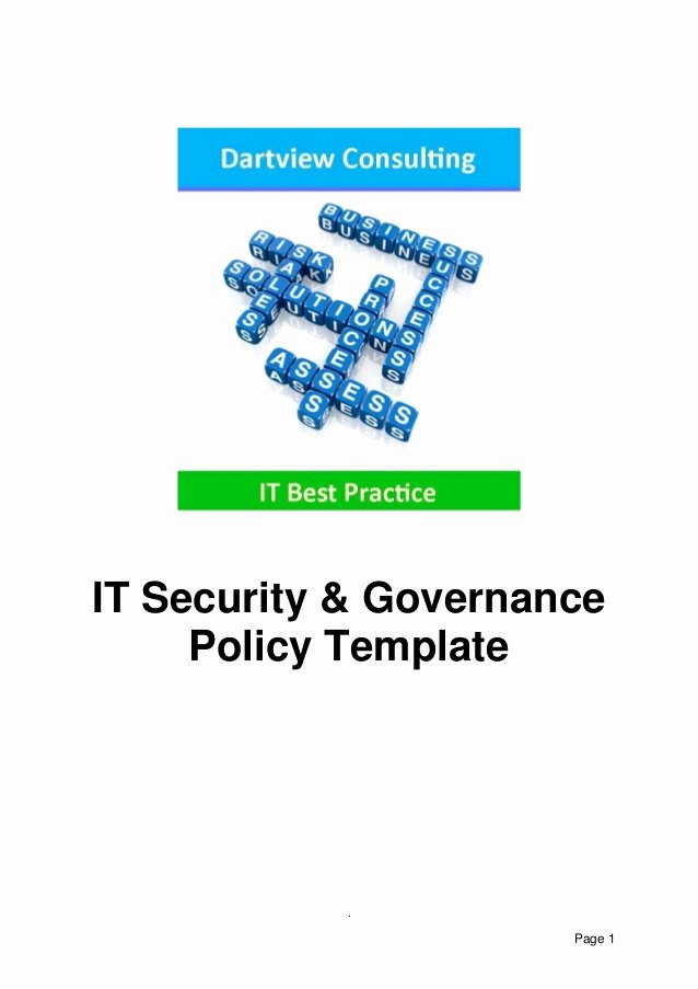 It Security Policy Template New It Security & Governance Template