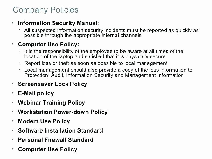 It Security Policy Template Unique Server Security Policy Template 5 Checklist It Security