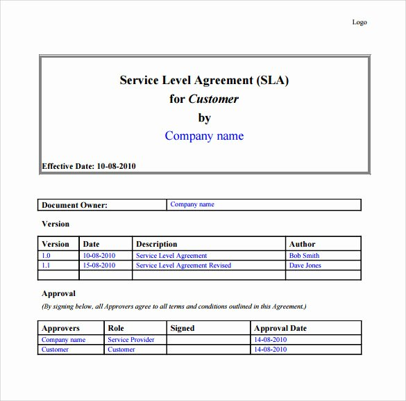 It Service Contract Template Awesome 10 It Support Contract Templates to Download for Free
