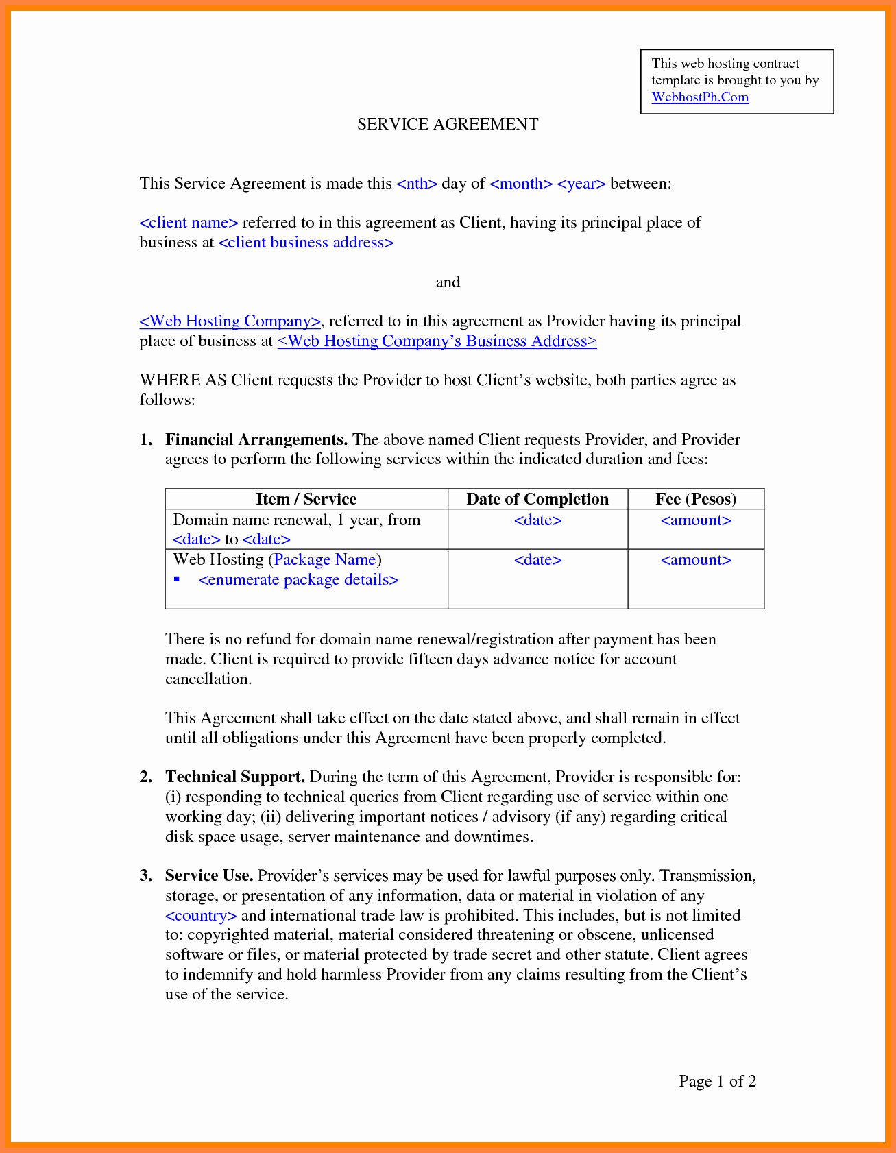 It Service Contract Template Awesome 8 It Services Agreement Contract Template
