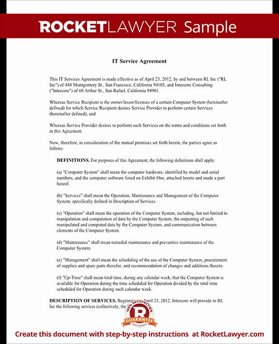 it service agreement rl