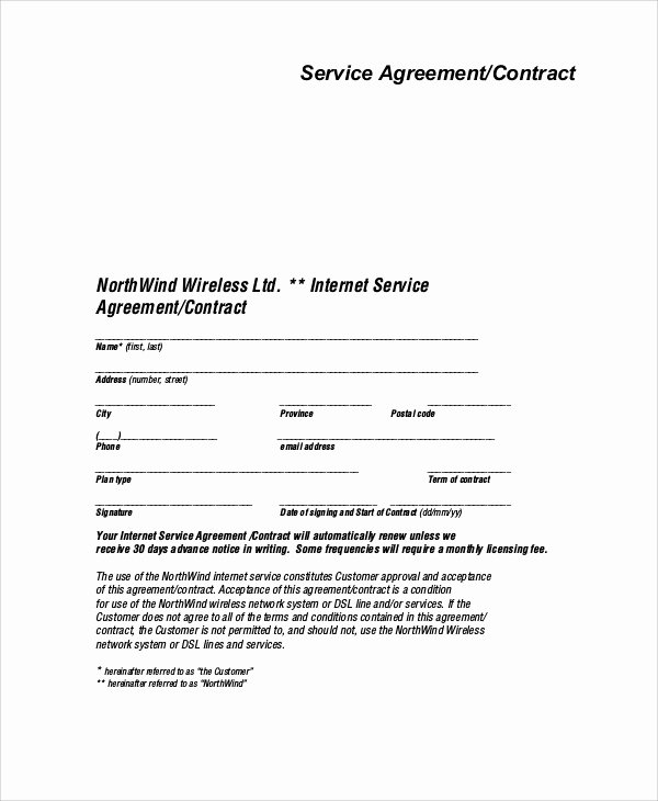 It Service Contract Template Awesome Sample Service Agreement Contract 9 Examples In Word Pdf
