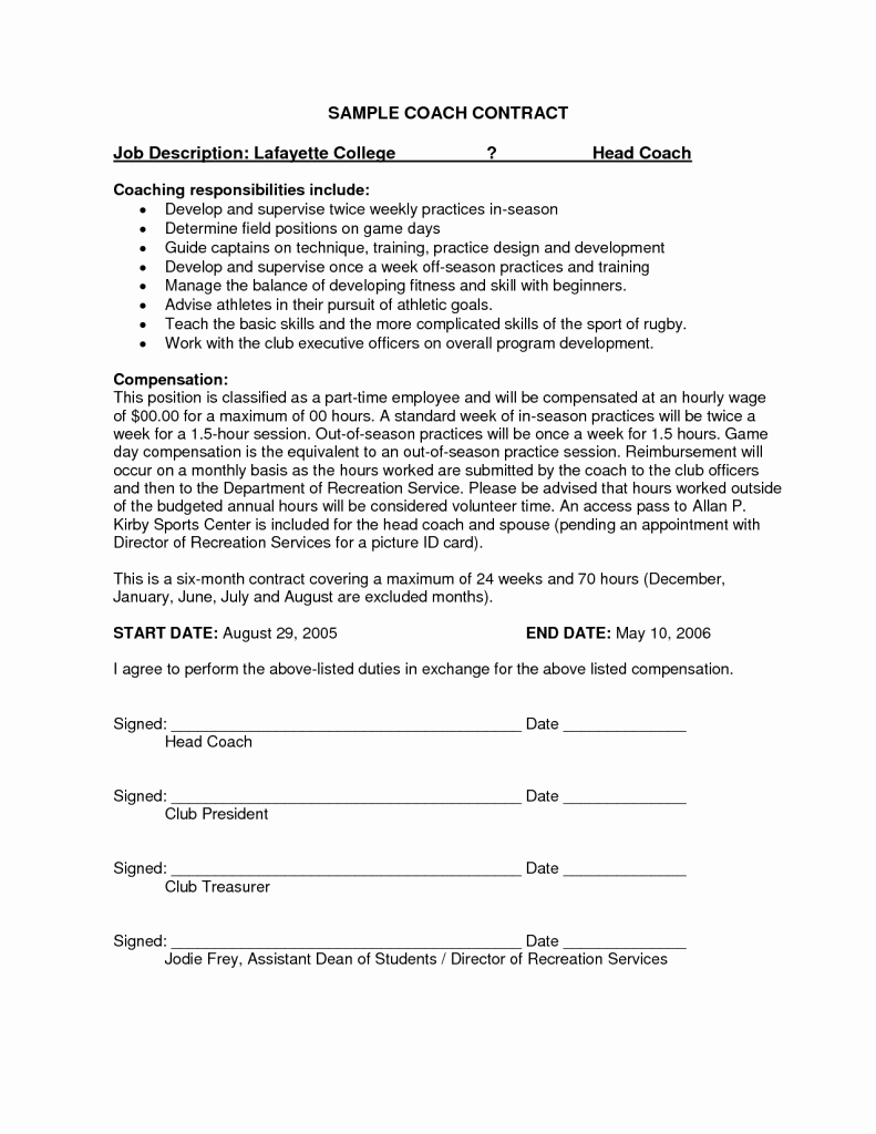 It Service Contract Template Awesome Simple Service Contract Template with Printable attendance
