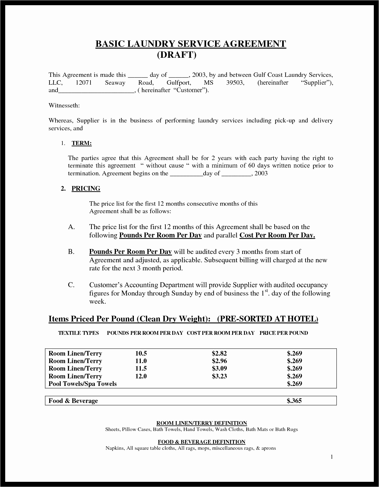 It Service Contract Template Beautiful Basic Service Contract Mughals