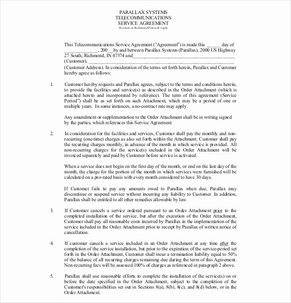 It Service Contract Template Elegant 35 Service Agreement Templates Word Pdf