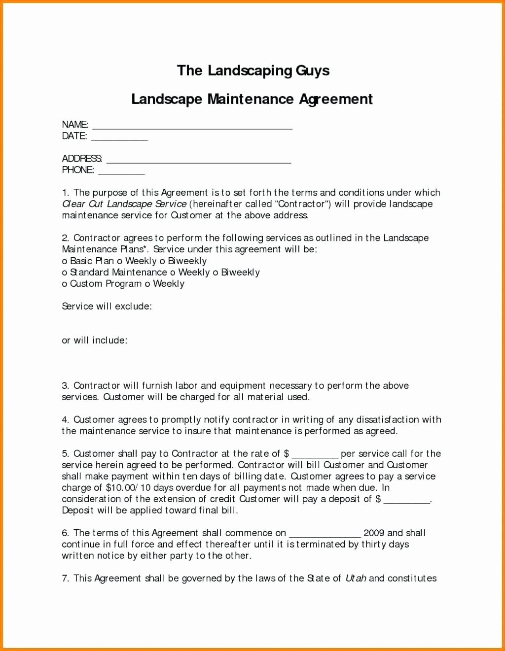 It Service Contract Template Elegant Template It Service Contract Template