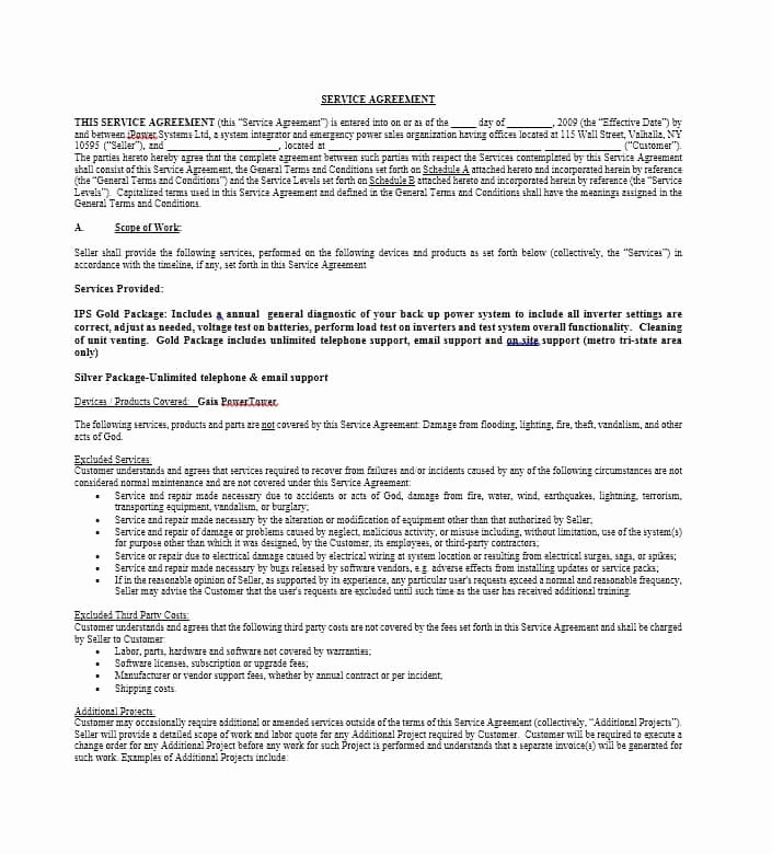It Service Contract Template Inspirational 50 Professional Service Agreement Templates & Contracts