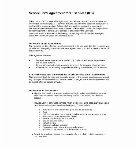 It Service Contract Template Luxury 35 Service Agreement Templates Word Pdf