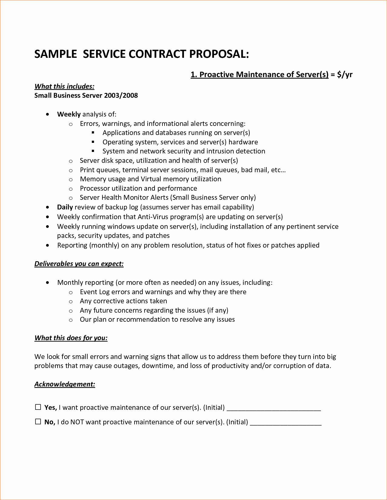 It Service Contract Template Luxury Sample Service Contract Proposal Cover Letter Samples
