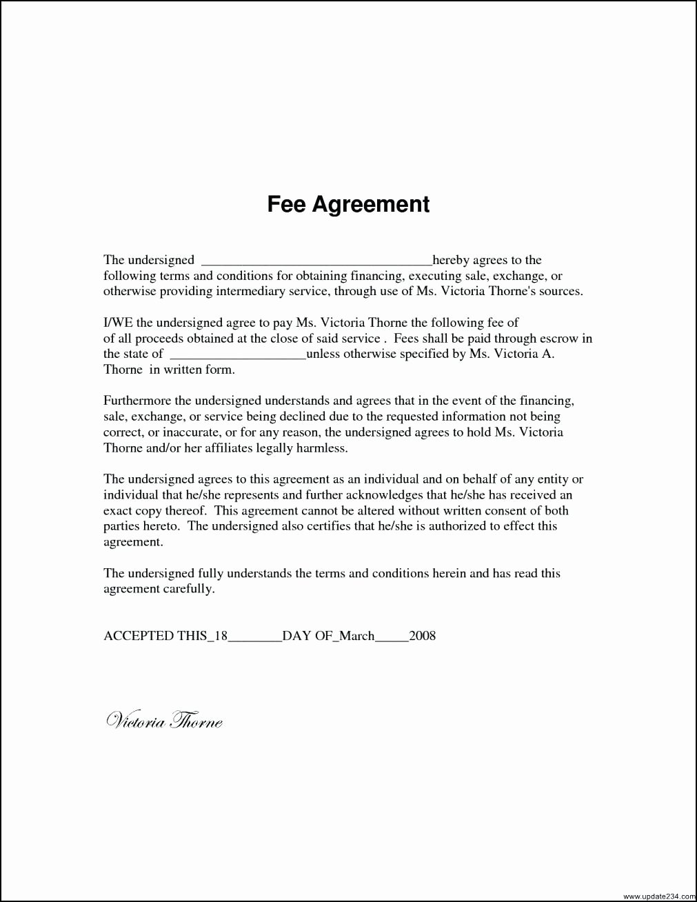It Service Contract Template New Template It Service Agreement Template
