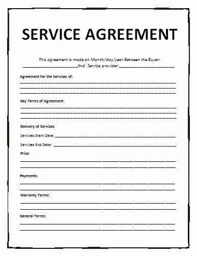 It Service Contract Template Unique Agreement Templates