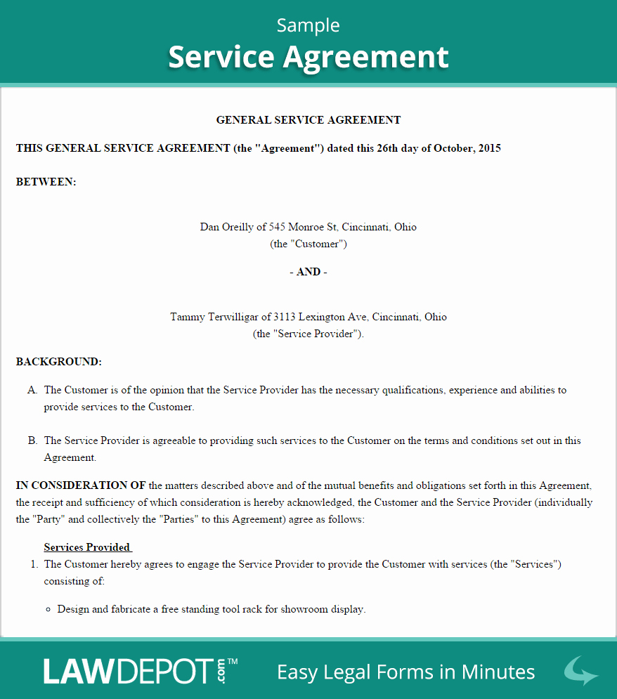 It Support Contract Template Best Of Service Agreement form
