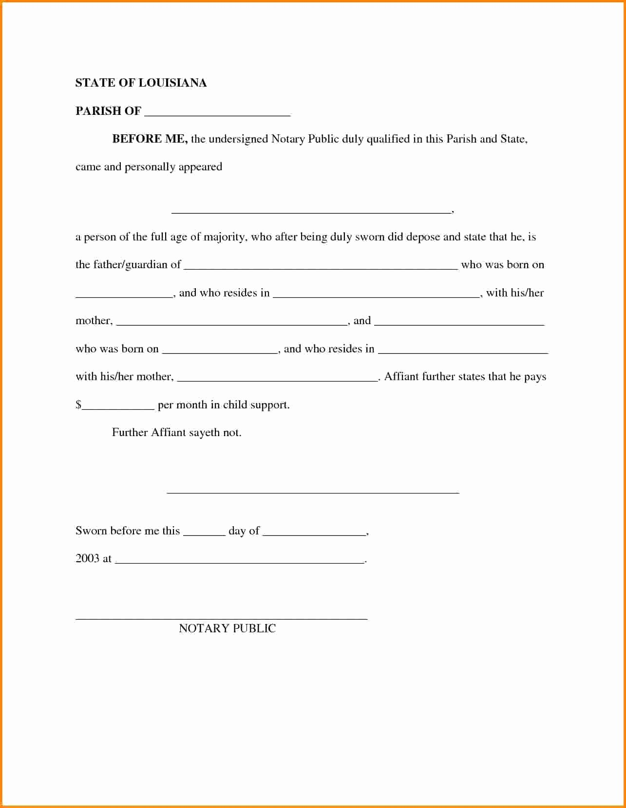 It Support Contract Template Lovely Child Support Letter Agreement Template Download